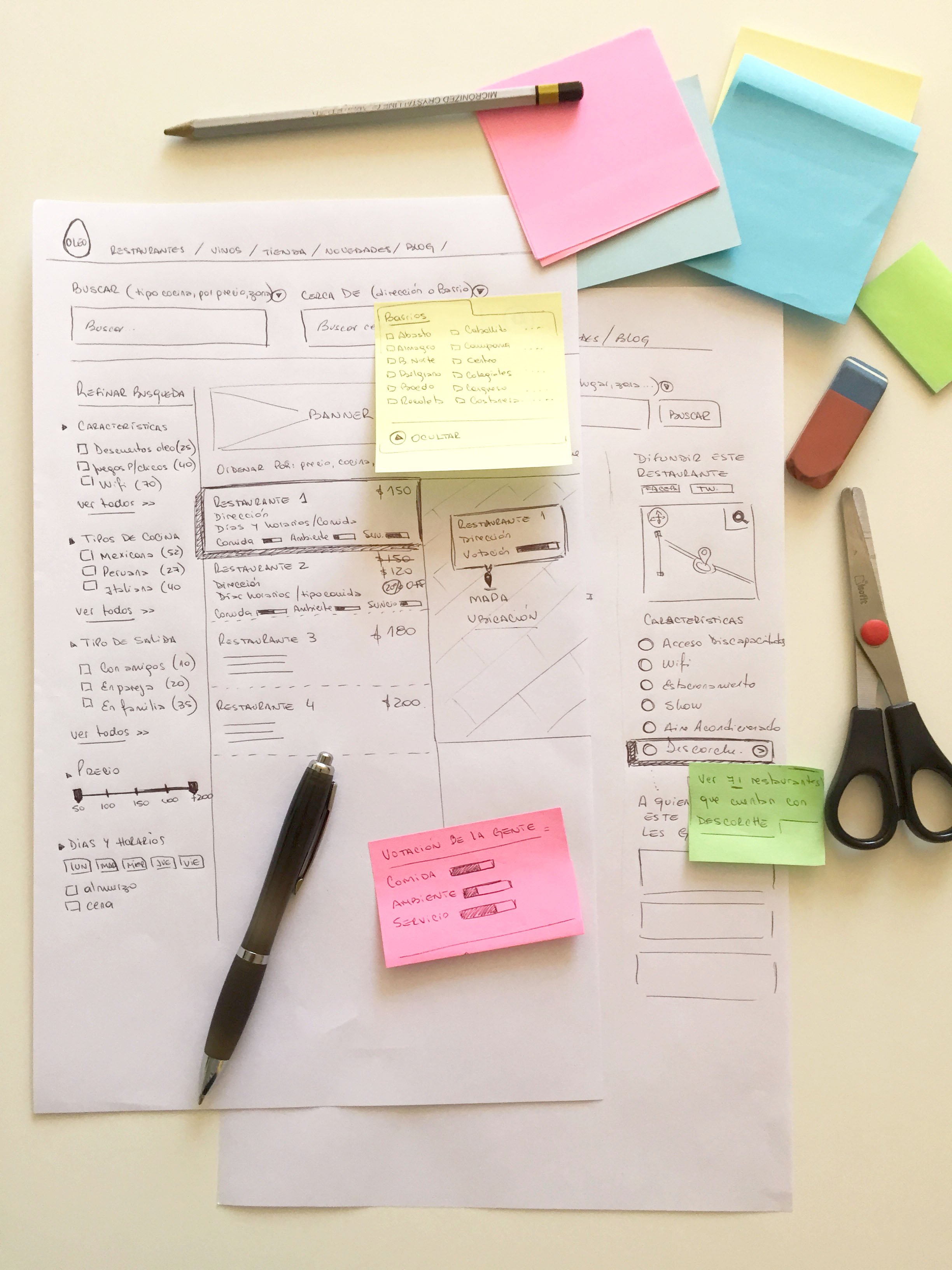 5 wireframes